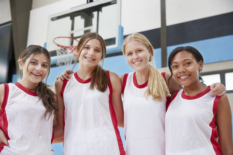 Portrait Of Female High School Basketball Team